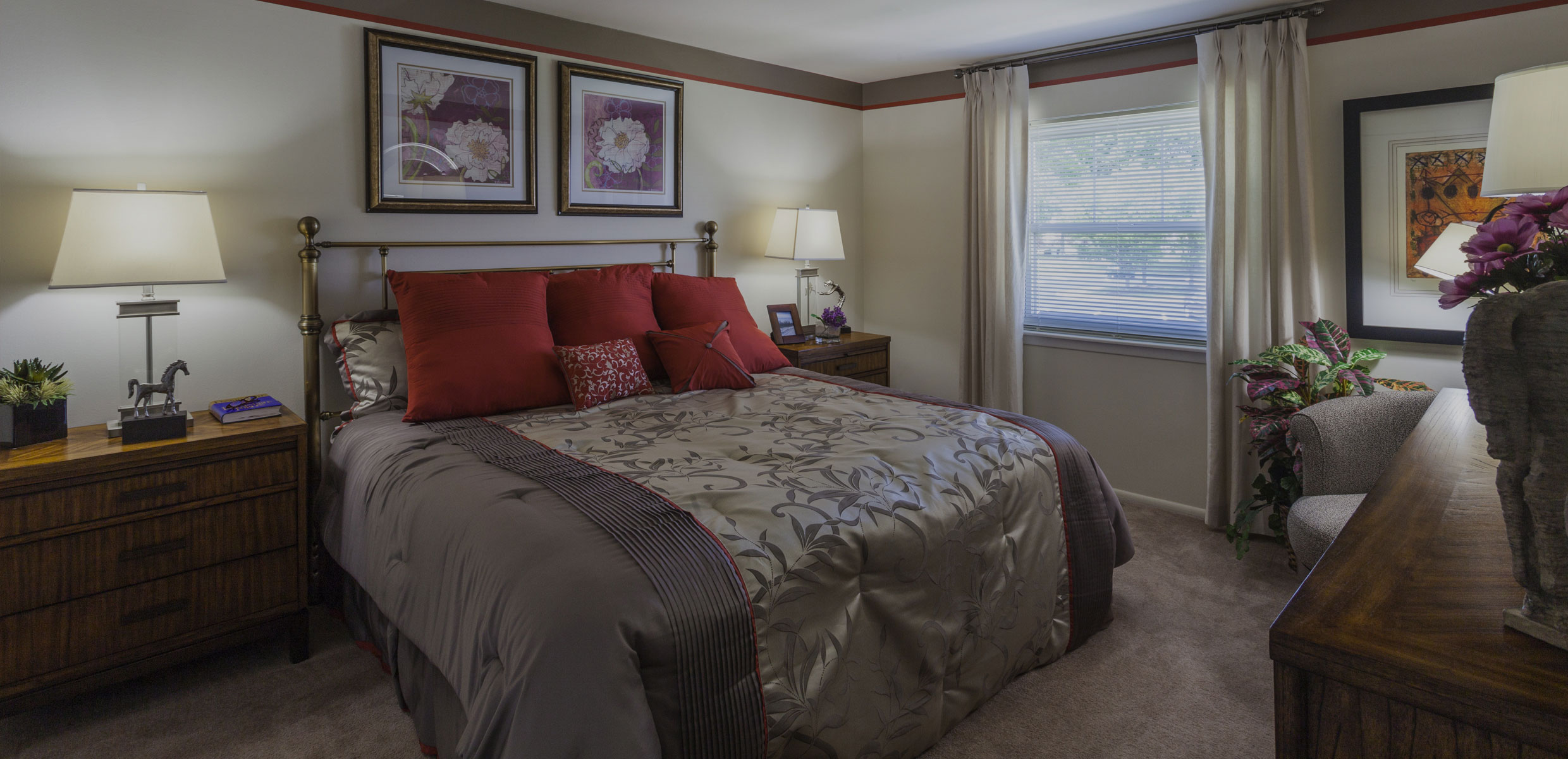 Bedroom at Townline Townhomes