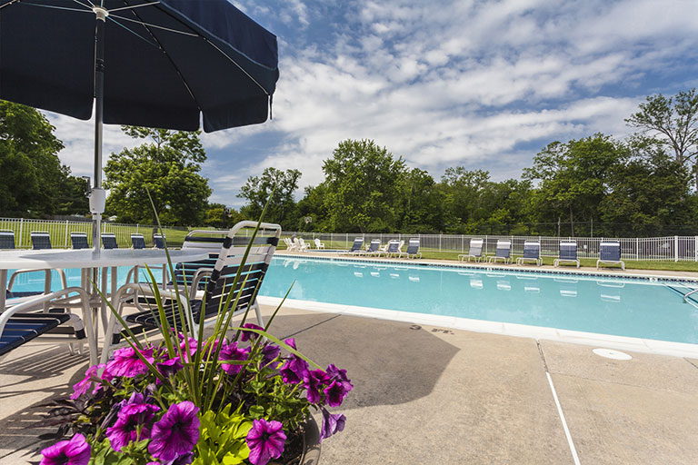 Swimming pool at Townline Townhome in Blue Bell