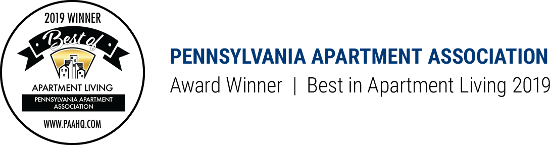 Pennsylvania Apartment Association - East Award Winner Best in Apartment Living 2019